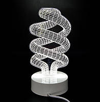 3D ночник-светильник СПИРАЛЬ, фото 1