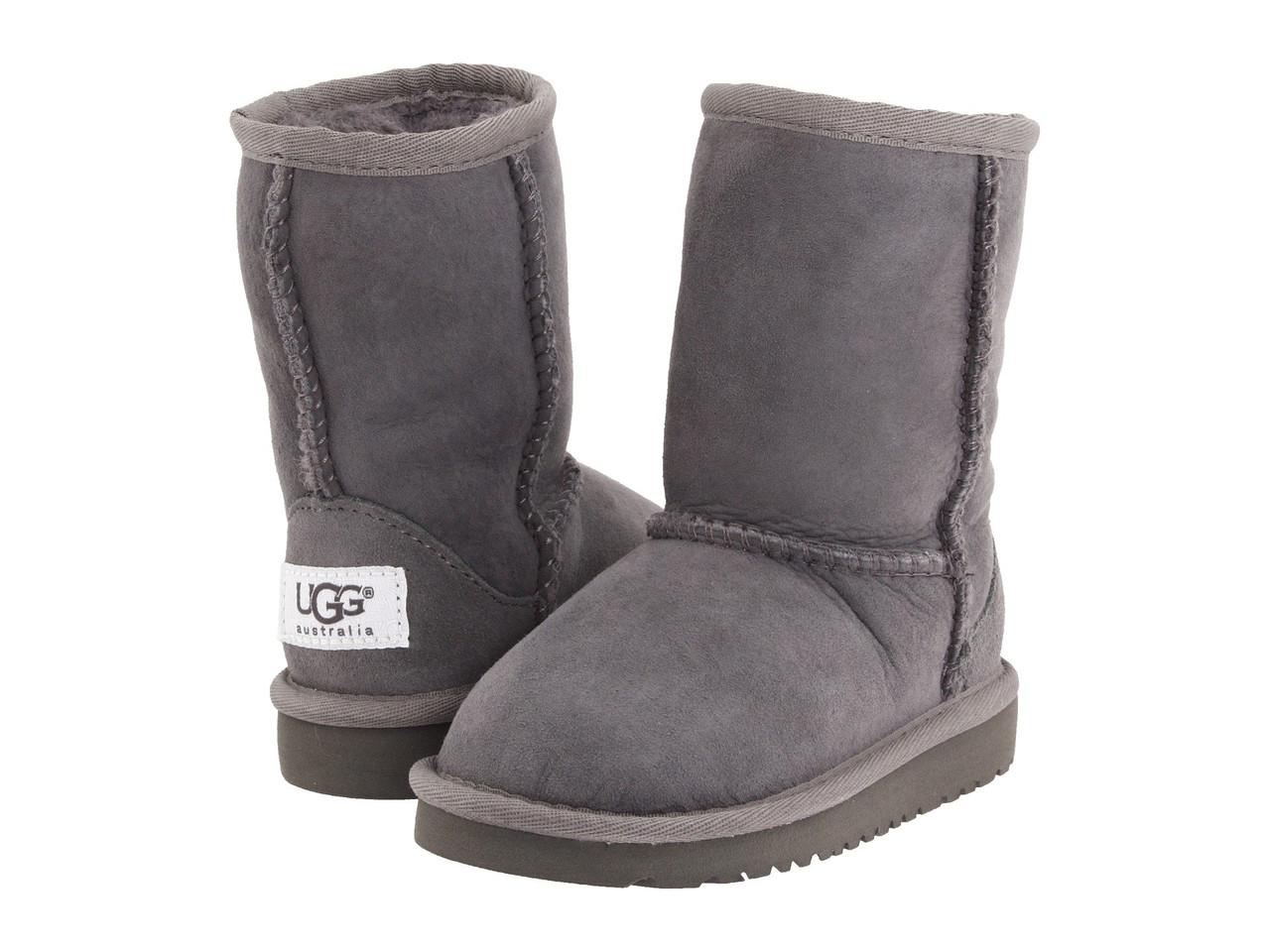 Дитячі UGG Classic short Grey (Уггі сірі дитячі). дитячі уггі, уггі дитячі