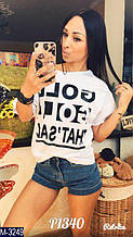 Женская футболка с накатом