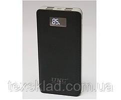 Power Bank Зовнішній акумулятор UKC 50 000 mAh з дисплеєм заряду і ліхтариком