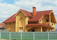 Строительство домов, бань из оцилиндрованного бревна, профилированного бруса, фото 1