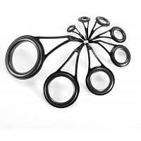 75шт стальные кольца для спининга / керамические снасти для рыбной ловли Чёрный