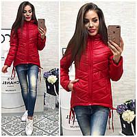 Куртка-парка женская,  модель 210,темно-красный