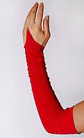 Перчатки драппировка цветная красные KS33-1.