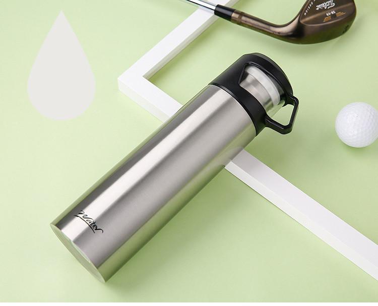 Термос с чашкой 500 мл серебро