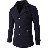 Мужской пиджак с косыми карманами на пуговицах 2XL