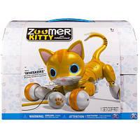 Интерактивная игрушка котенок Китти Золотой Рыжик  Zoomer Kitty Whiskers The Orange Tabby 6026878