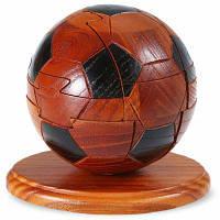 Классический Стиль Футбола Разблокировать Головоломка Игрушка Деревянная Головоломка Цветной