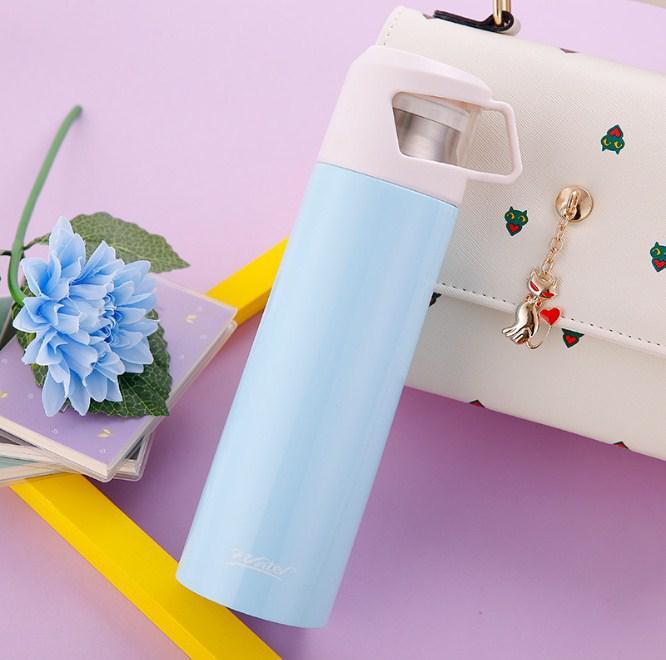 Термос с чашкой 500 мл голубой