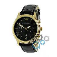 Часы мужские наручные Emporio Armani B66 Black-Gold-Black