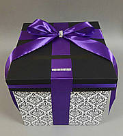 Коробка для денег с орнаментом и бантом