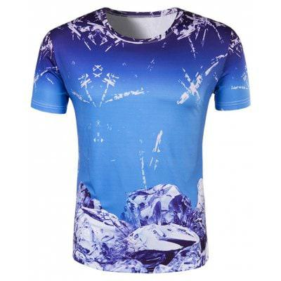 Slim Fit круглый воротник Ice Cube печать футболки для мужчин L - ➊ТопШоп ➠ Товары из Китая с бесплатной доставкой в Украину! в Киеве