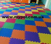 Коврик-пазл для детей, покрытие для игровых центров, 48х48 см толщина 12 мм с торцами