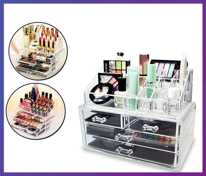 Акриловый органайзер для косметики Cosmetic Storage Box - Интернет магазин Multi-Cent в Одессе