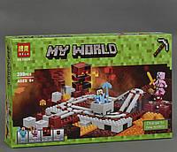 """Конструктор Minecraft Bela 10620 """"Подземная железная дорога"""" (аналог Lego Майнкраф 21130), фото 1"""