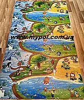 Детский коврик Киндер пол , Союзмультфильм, Мадагаскар, теплый 2*1,2 м