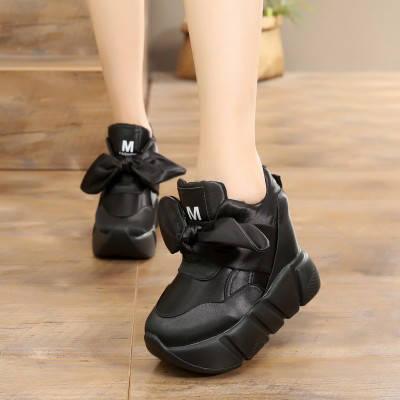 Кроссовки на высокой подошве с бантом, фото 2