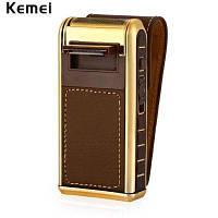 KEMEI 5500 Компактная аккумуляторная электрическая бритва с зеркалом возвратно-поступательная машинка для бритья Коричневый