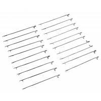 Поделки 20шт защелки инструмент иглы крючком вязание крючком Серебристый