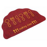1Pcs Абсорбент Shell Тип Противоскользящее Кулинария Doormat Спальня Ковер Глубокий красный