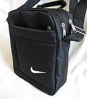 Мужская сумка через плечо спортивная барсетка черная 23х19х8см, фото 1
