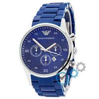 Часы мужские Emporio Armani Silicone Silver-Blue