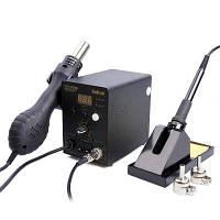 Bakon SBK8586 светодиодная паяльная станция с горячим воздухом и паяльник С адаптером ЕС