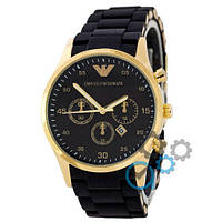 Часы мужские наручные Emporio Armani Silicone Gold-Yellow-Black