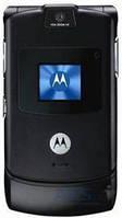 Стекло для Motorola V3 внешнее Black