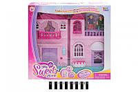 """Игровой Домик для кукол """"Home"""" 16589, музыка, свет, мебель и фигурки, кукольный домик"""