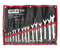 Набор ключей комбинированных 15 шт., 6-27 мм YT-0065