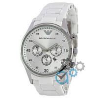 Часы наручные женские Emporio Armani Silicone Silver-White