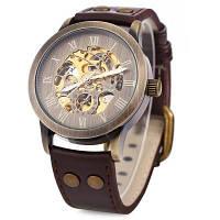 Шэньхуа 9269 полые механические часы для мужчин Коричневый