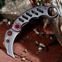 Складной нож в форме когтя 3Cr13Mov Лезвие из нержавеющей стали Черный Серый