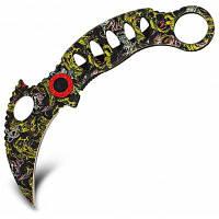 Складной нож коготь с фиксатором в камуфляжной расцветке камуфляжный