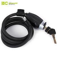 Basecamp до н. э.-921 стальной проволоки спиральный кабель противоугонный велосипедный замок Чёрный