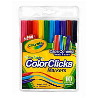 Фломастеры COLOR CLICK с системой caps  connect 10 цветов, Crayola
