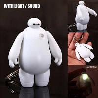 """ABS Декоративный брелок с подсветкой в форме беймакс """" Большой герой """" со светом / звуком Белый"""