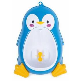 Яркий моющийся писсуар для малышей в виде пингвина на присосках - Синий