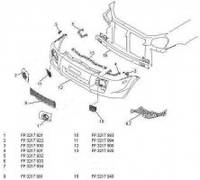 Крепеж переднего бампера для Hyundai Tucson '03-09 нижний левый (FPS)