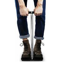 Противоскользящий стальной пружинный Abs триммер для упражнений и подтяжки живота серебристый и черный