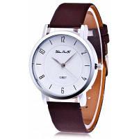 Женские модные кварцевые часы с простым циферблатом Коричневый