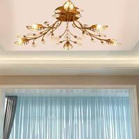 LightMyself YQ6626-6 лист-образный хрустальный 6 G9 базовый потолочный светильник люстры потолочные Бронзовый