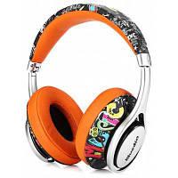 Bluedio A2 складные блютуз наушники с микрофоном Оранжевый