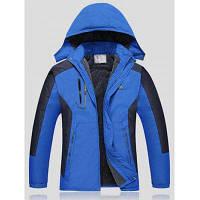 Двухцветная Лыжная куртка с отстегивающимся капюшоном 2XL