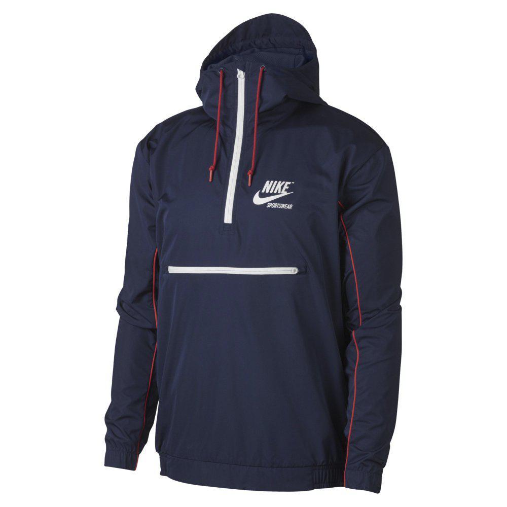 e3c0f090 Оригинальная мужская куртка Nike NSW Jacket Hooded Woven Archive, фото 1