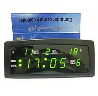 Часы электронные CX 909 сетевые с термометром