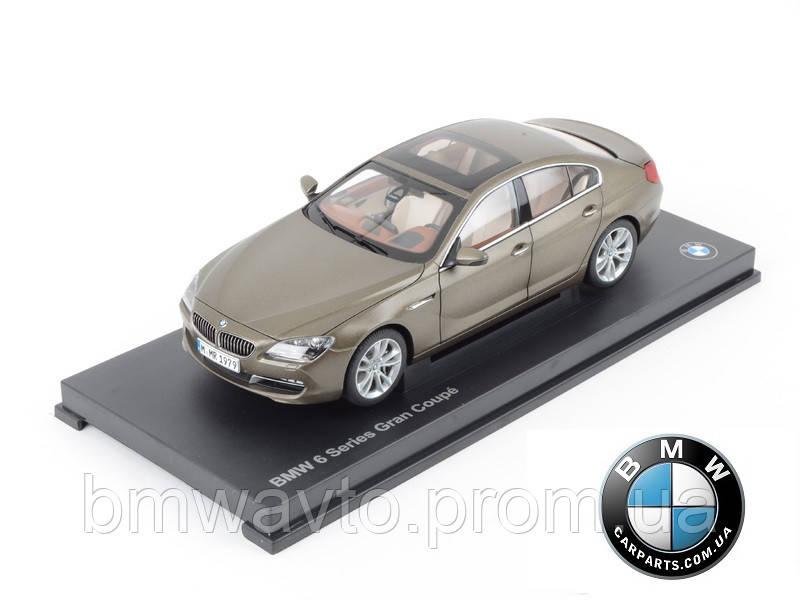 Модель BMW 6er Gran Coupé (F06) Bronze, Scale 1:18