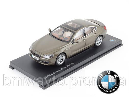 Модель BMW 6er Gran Coupé (F06) Bronze, Scale 1:18, фото 2