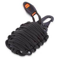 Набор для выживания в экстремальных условиях веревка с карабином Чёрный